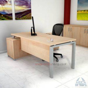 שולחן מנהלים פינתי דגם Rondo רגל כסופה