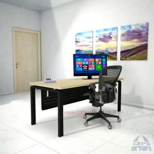 שולחן כתיבה דגם Moro רגל שחורה ומיסתור מתכת
