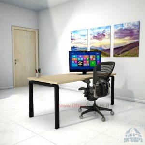 שולחן כתיבה יוקרתי דגם Moro רגל שחורה ללא מיסתור