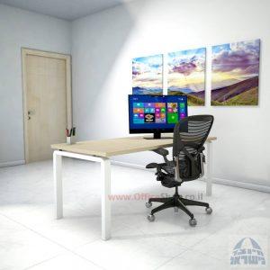 שולחן כתיבה יוקרתי דגם Moro רגל לבנה ללא מיסתור