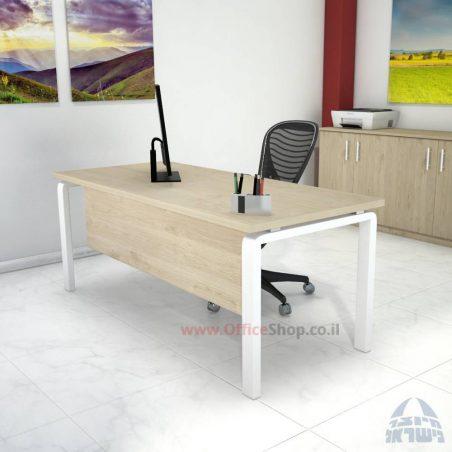 שולחן כתיבה דגם Moro רגל לבנה ומיסתור מתכת