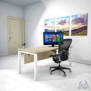 שולחן כתיבה יוקרתי דגם Moro כולל מיסתור עץ רגל לבנה