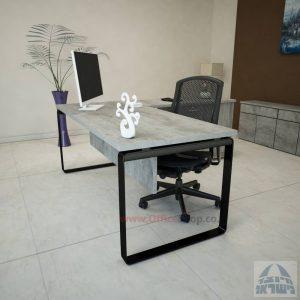 שולחן מזכירה יוקרתי דגם Niro – MD4 רגל שחורה כולל מיסתורעץ