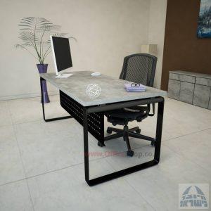 שולחן כתיבהיוקרתי Niroרגל שחורה כולל מיסתורמתכת
