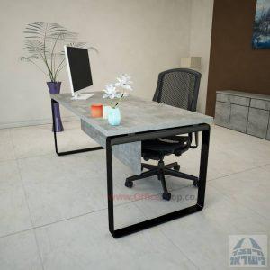 שולחן כתיבהיוקרתי Niroרגל שחורה כולל מיסתורעץ