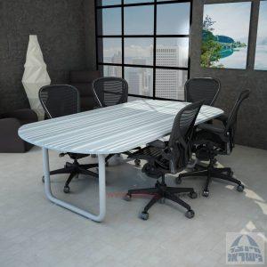 שולחן ישיבות יוקרתי דגם Ring – רגל צינור