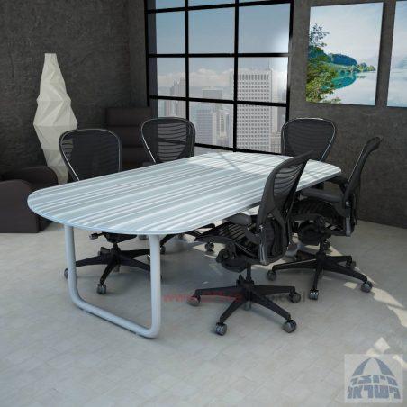 שולחן ישיבות יוקרתי דגם Ring - רגל צינור