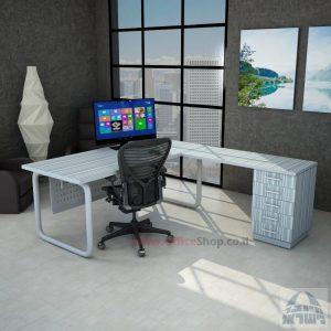 שולחן מזכירה פינתי דגם Ring 5M רגל צינור
