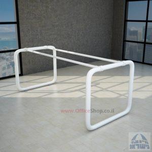 קיט רגלי צינור לשולחן כתיבה דגם Ring בגימור אפוקסי לבן