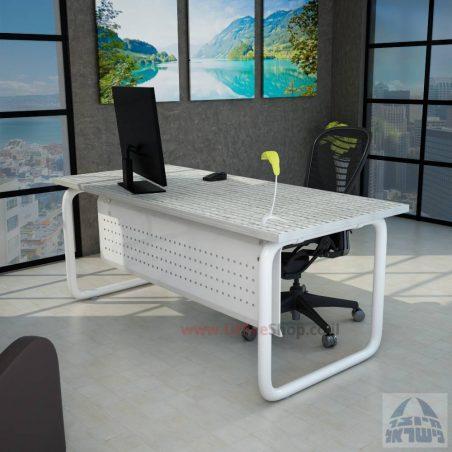 שולחן כתיבה משרדי דגם Ring רגל צינור כסופה + מיסתור מתכת