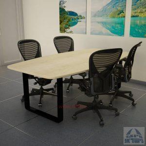 שולחן ישיבות מודרני דגם Rondo רגל שחורה