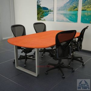 שולחן ישיבות מודרני דגם Rondo רגל כסופה