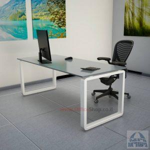שולחן כתיבהזכוכית מחוסמת דגם Rondo Glass