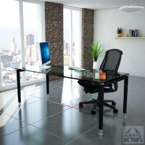 שולחן כתיבה זכוכית דגם  Tomer Glass