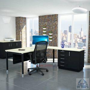 שולחן מזכירה יוקרתי Tomer - MD5 רגל שחורה - מיסתור מתכת