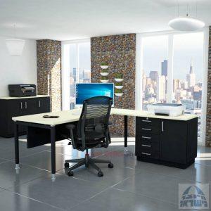 שולחן מזכירה יוקרתי Tomer - MD5 רגל שחורה - מיסתור עץ