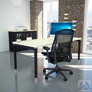 שולחן כתיבה יוקרתי דגם Tomer רגל שחורה
