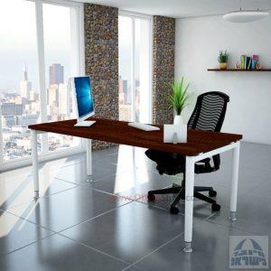 שולחן כתיבה יוקרתי דגם Tomer רגל לבנה