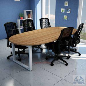 שולחן ישיבות מודרני דגם WINDOW רגל כסופה