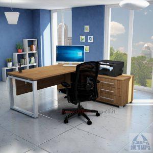 שולחן מנהלים יוקרתי דגם Window רגל כסופה