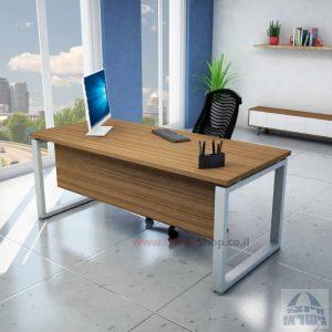 שולחן כתיבה יוקרתי דגם Window רגל כסופה כולל מיסתור עץ