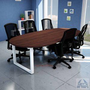 שולחן ישיבות מודרני דגם WINDOWרגל לבנה