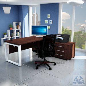 שולחן מנהלים יוקרתי דגם Window רגל לבנה
