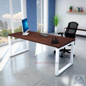 שולחן כתיבה יוקרתי דגם Window רגל לבנה