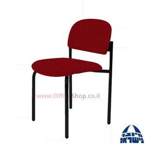 כסא אורח רקפת גוף שחור ללא ידיות