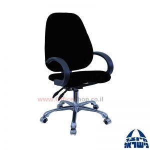 כסא מזכירה דגם Gal פרימיום +מושב ארגונומי וידיות סהר