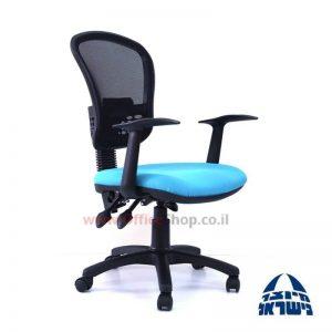 כיסא מזכירה ארגונומי דגם Ofira גב רשת + ידיות ארגונומיות