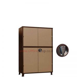 ארון מתכת נמוך 2 דלתות 135X86X43+מוט ביטחון
