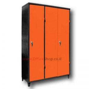 """ארון משרדי מתכת 3 דלתות לכל הגובה 195X120X45 ס""""מ"""