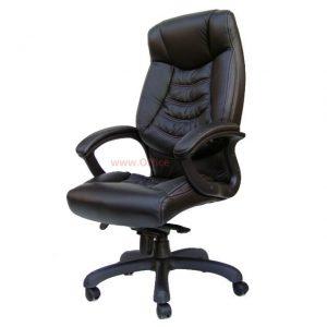 כסא מנהל ארגונומי שיקאגו: בדמוי עור איכותי בצבע שחור