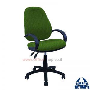 כסא מזכירה משרדי דגם Gal כולל ידיות סהר