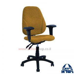 כסא מזכירה דגם Gal + מושב ארגונומי כולל ידיות מתכווננות