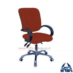 כסא מזכירה דגם Ofir פרימיום +מושב ארגונומי וידיות סהר
