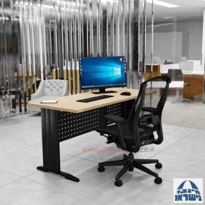 שולחן כתיבה משרדי מפואר Alfa רגל שחורה