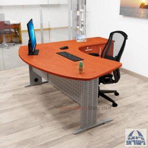 שולחן עבודה ארגונומי דגם ALFA + 5 מגירות