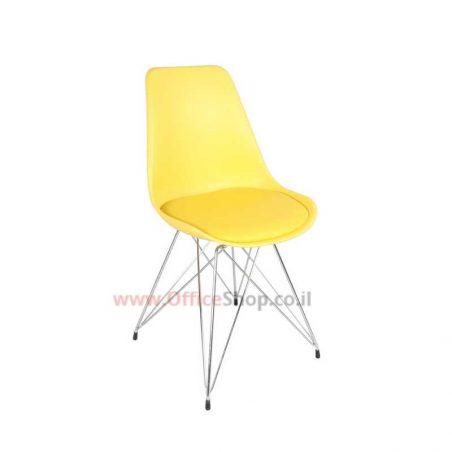 כסא אורח מרופד דגם SMART פלסטיק צבעוני