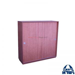 """ארון אחסון קלסרים דלתות הזזה – גובה 123 ס""""מ"""