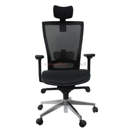 כסא מנהלים ארגונומי דגם SPACE -רשת שחורה