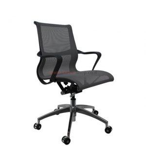 כסא מנהלים מרשת אפורה דגם LUXURY