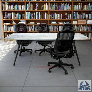 שולחן ישיבות מעוצב דגם Spider רגל שחורה