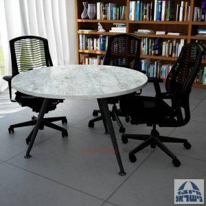 שולחן ישיבות עגול דגם Spider רגל שחורה