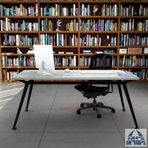 שולחן מנהלים מעוצב Spider ללא מיסתור רגל שחורה