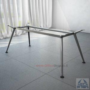 רגל מתכת לשולחן ישיבות דגם SPIDER בכרום ניקל
