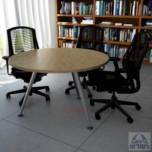שולחן ישיבות עגול דגם Spider רגל כרום ניקל