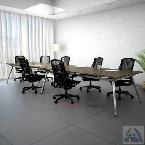 שולחן ישיבות מעוצב דגם Spider רגל כרום ניקל