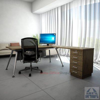 שולחן למנהל | דגם Spider- M5 רגל כסופה